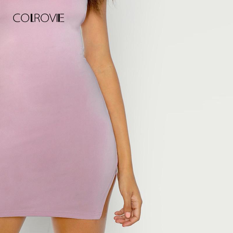 6a10042d83bb Form Fitting Slit Hem Cami Dress - Womens WebStore